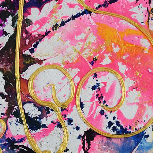 バリアート、絵画。モダンでカラフル&クールな抽象画