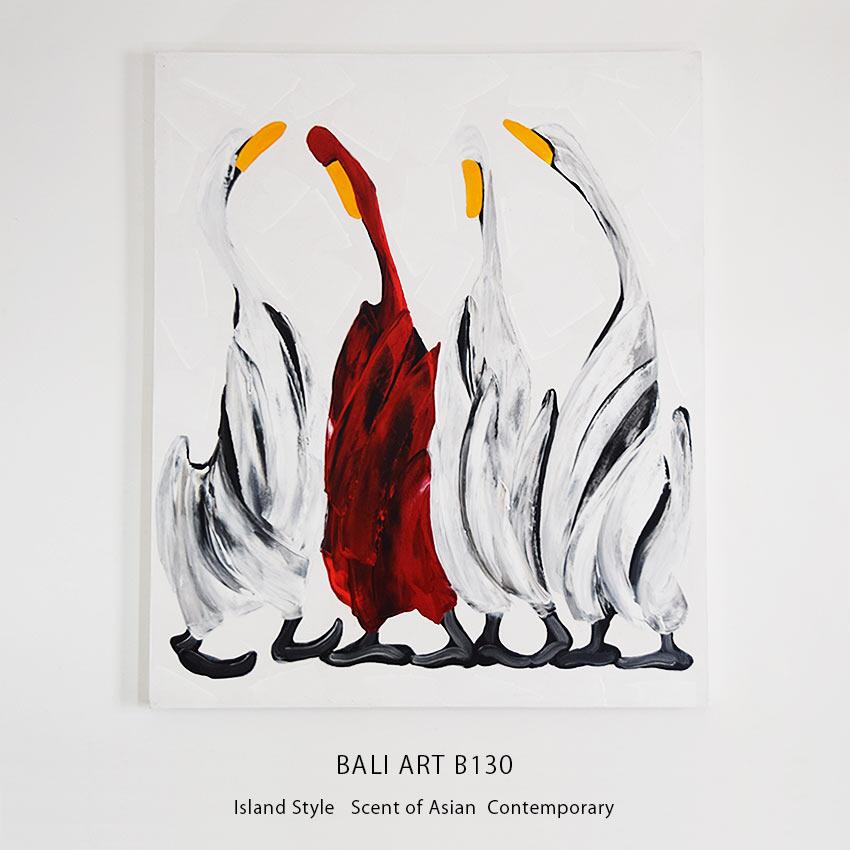 バリアート、おしゃれなアヒルの絵画