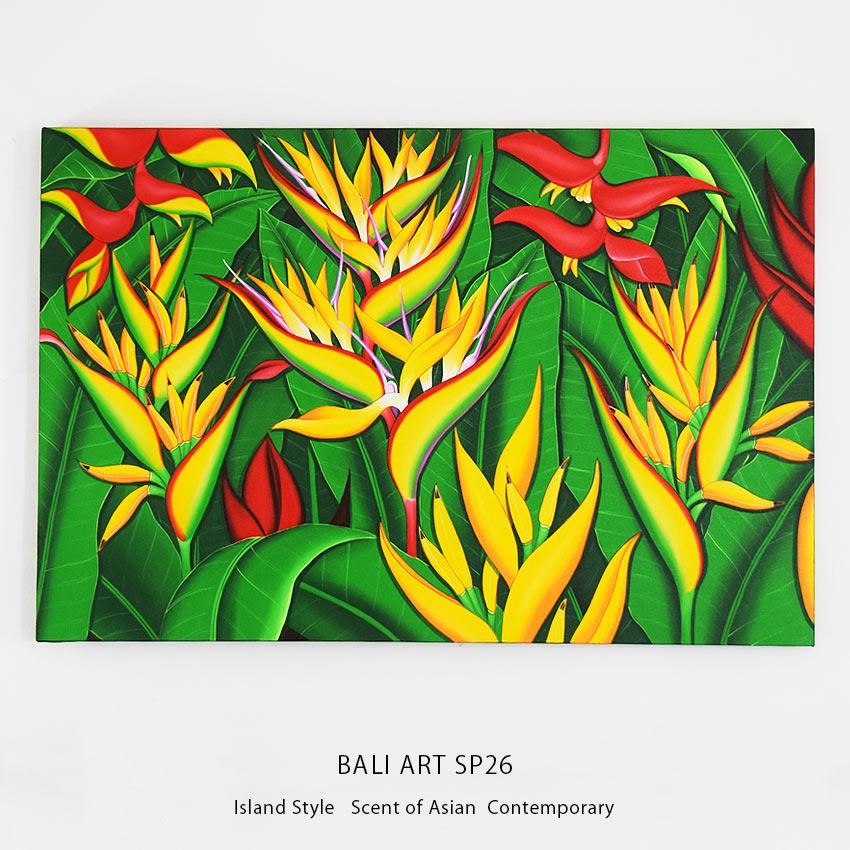 バリアート、大型のヘルコニアの絵画
