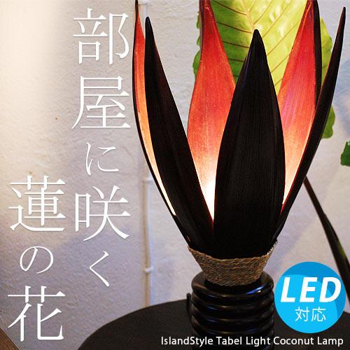 アジアン照明。ココナッツの間接照明。サイドテーブルライト ココナッツランプ