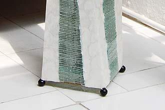 アジアン照明。シェルとガラスのランプ。フロアスタンドライト クリスタルタワーL