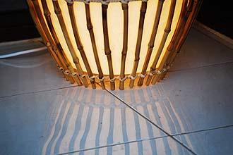 花台を兼ねた照明。フロアライトゲッカ