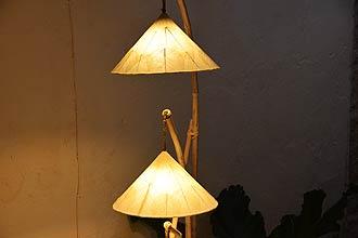 アジアン照明。モダンで風情ある竹の和風ライト
